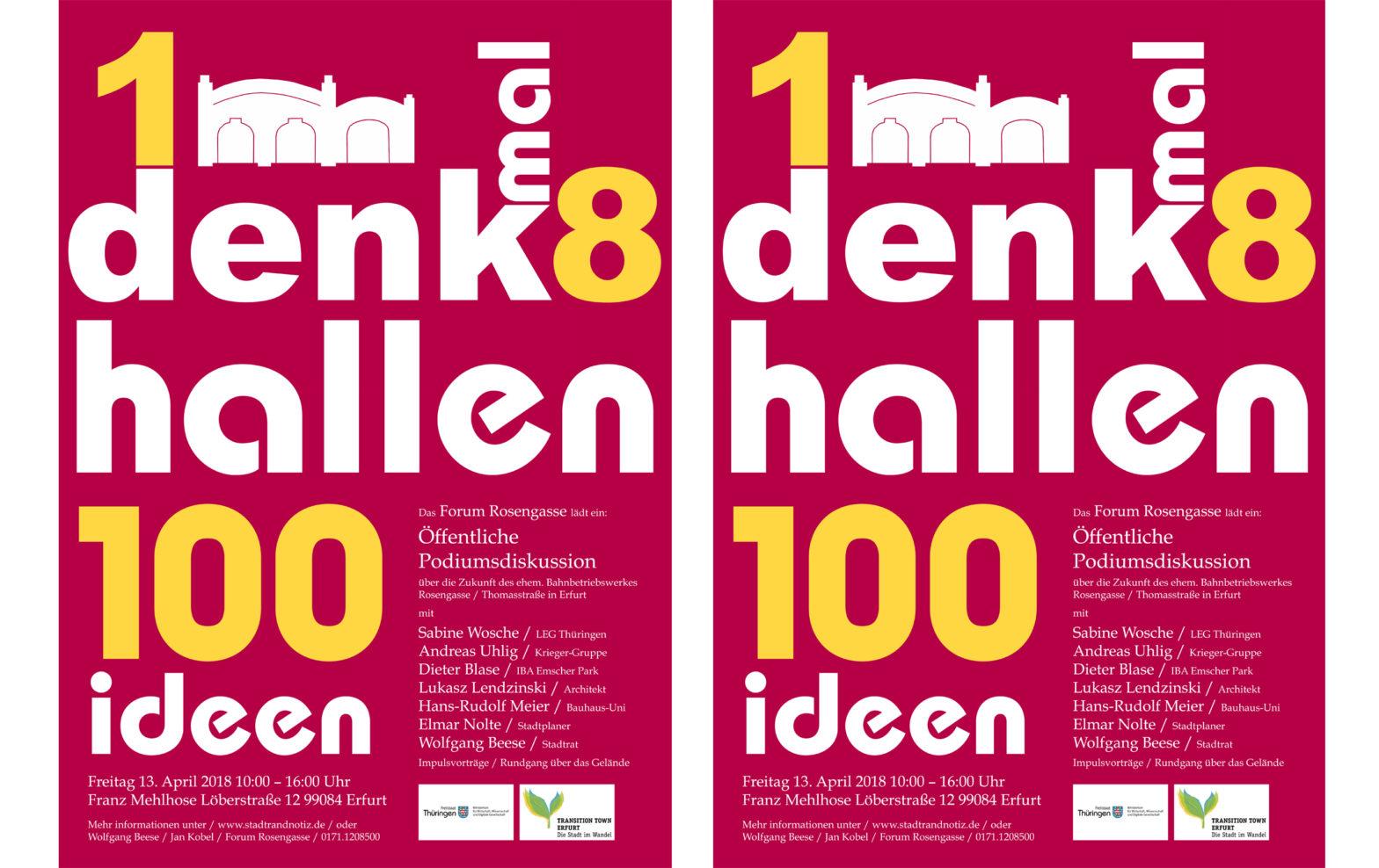 Forum Rosengasse // Öffentliche Podiumsdiskussion für die Wiederbelebung des ehem. Bahnbetriebswerkes in Erfurt
